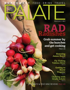 "cover of NW Palate Magazine ""Rad Radishes"" photographed by John Valls"