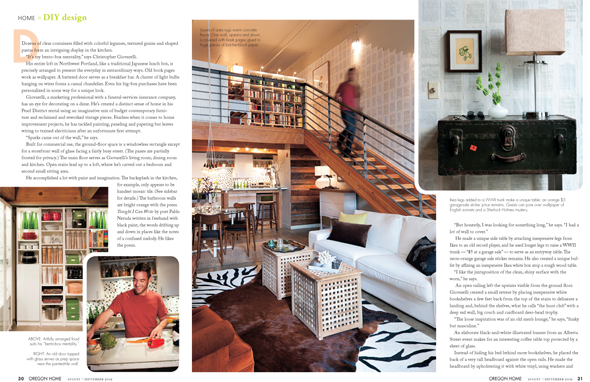 interior spread from Oregon Home Magazine Feature
