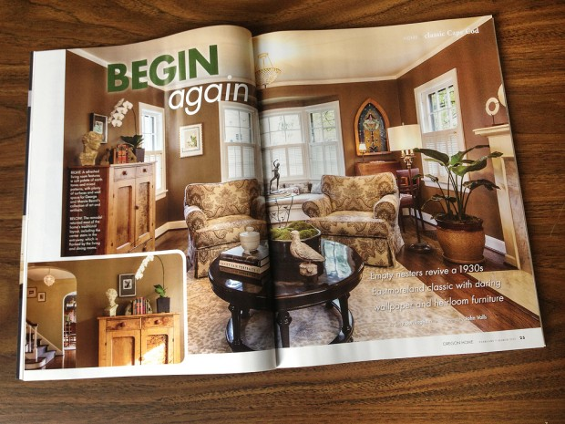 Main spread of feature for Oregon Home shot by John Valls