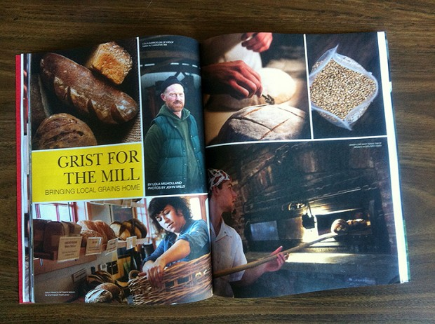 a spread of photographs in Edible Portland featuring Tabor Bread