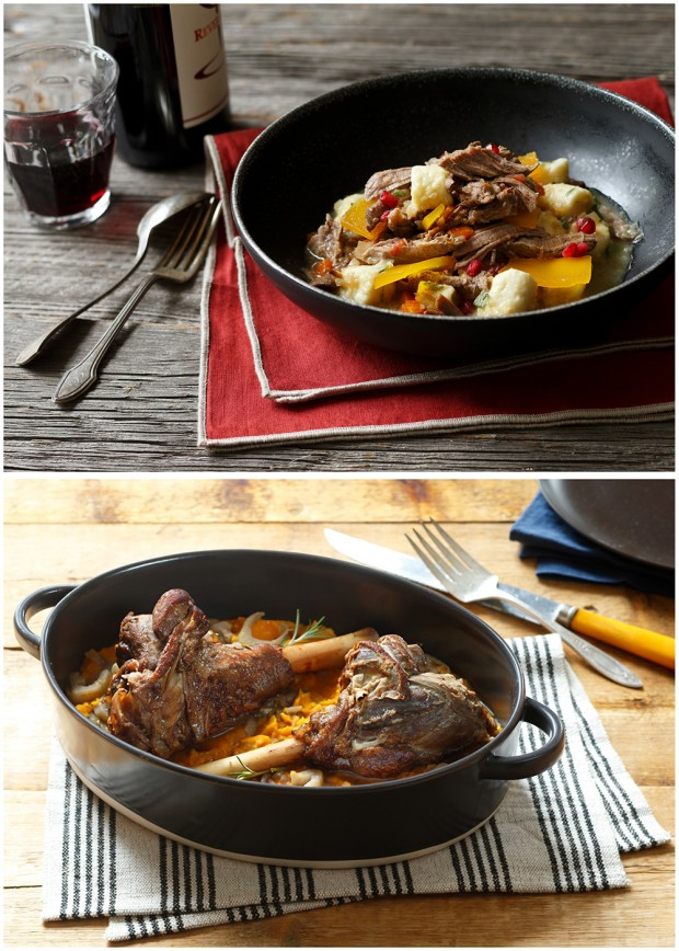 styled recipe food dishes from the American Lamb Board