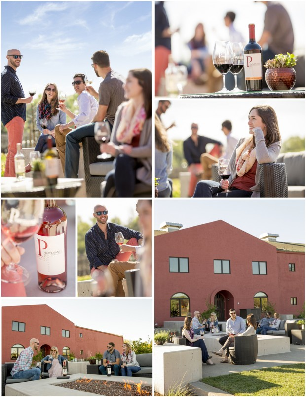 Lifestyle images at Provenance Winery