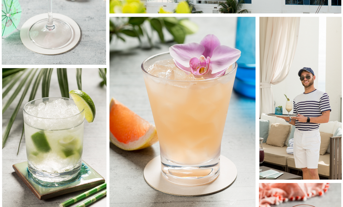 Colorful photos of Hilton Poolside cocktails